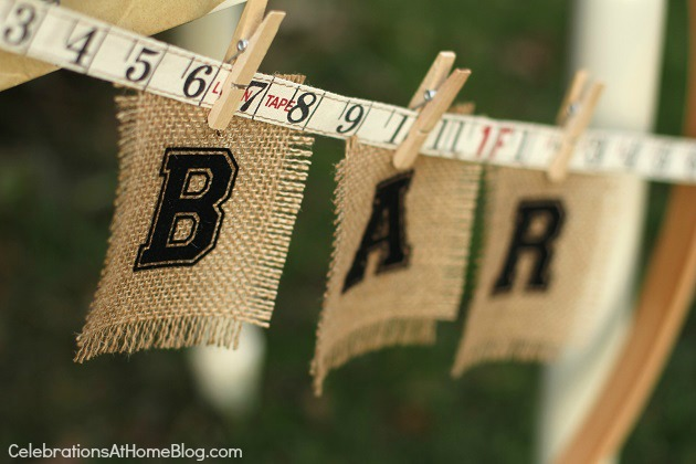 iron on letters banner