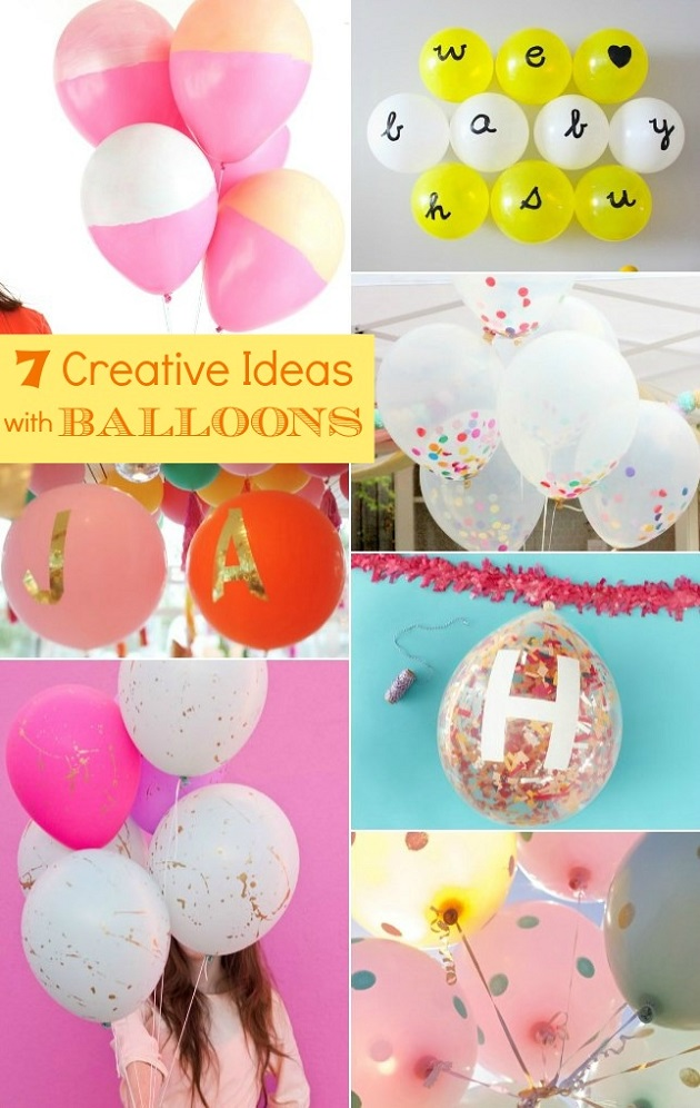 7 creative ideas with balloons