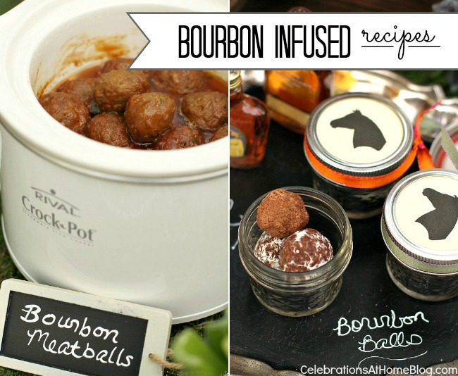 bourbon infused recipes #meatballs #dessert