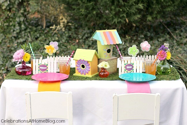 Whimsical kids garden party ideas.