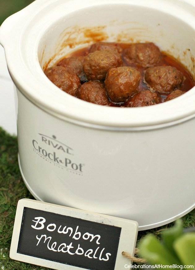 meatballs in bourbon sauce