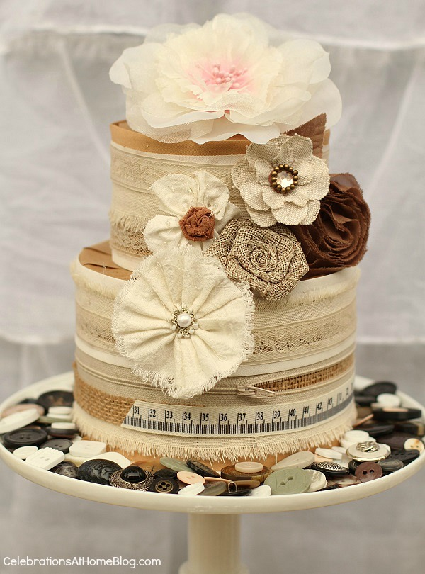 shabby chic cake diy centerpiece