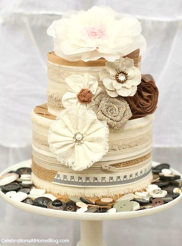 shabby chic cake centerpiece