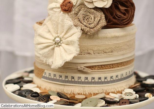 shabby chic cake diy