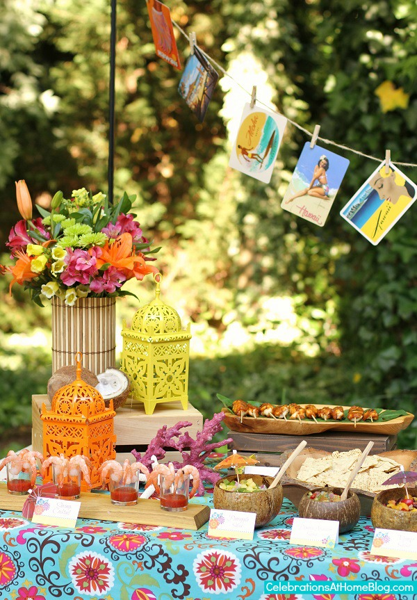 Diy luau party decorations great luau themed party ideas for Tropical themed house