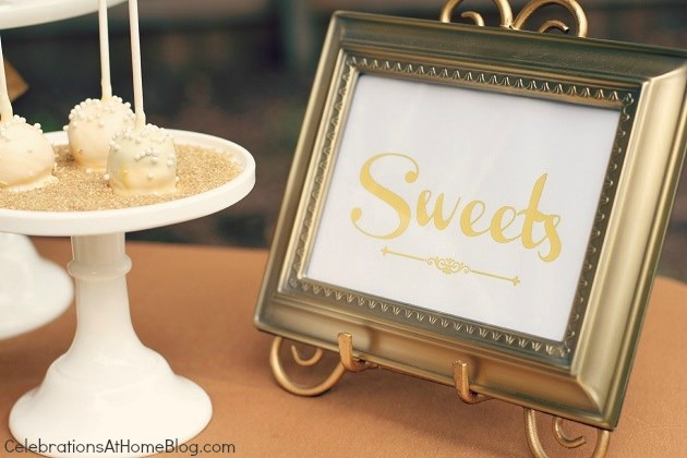 sweets sign #LetsCelebrate
