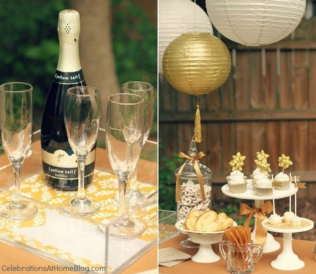 gold party styled for martha stewart jcpenney collection #LetsCelebrate