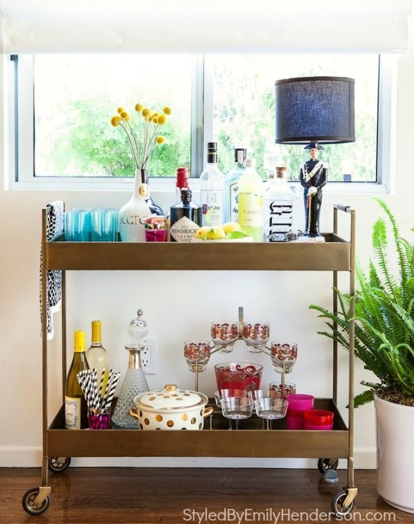 Bar Cart Via Styled By Emily Henderson