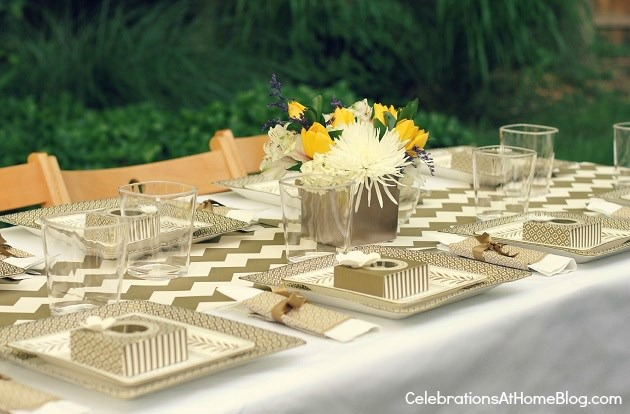 gold party for martha stewart jcpenney collection #LetsCelebrate