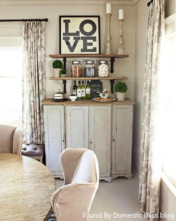 open shelf bar via Found by Domestic Bliss