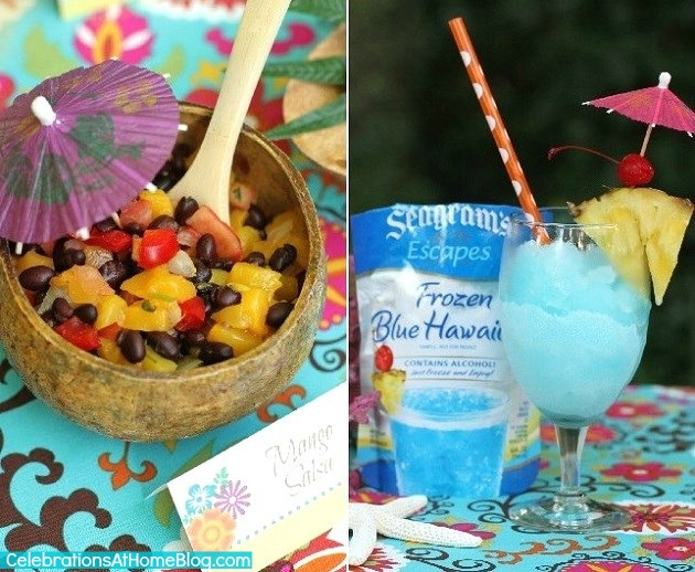 Tropical themed party & drinks