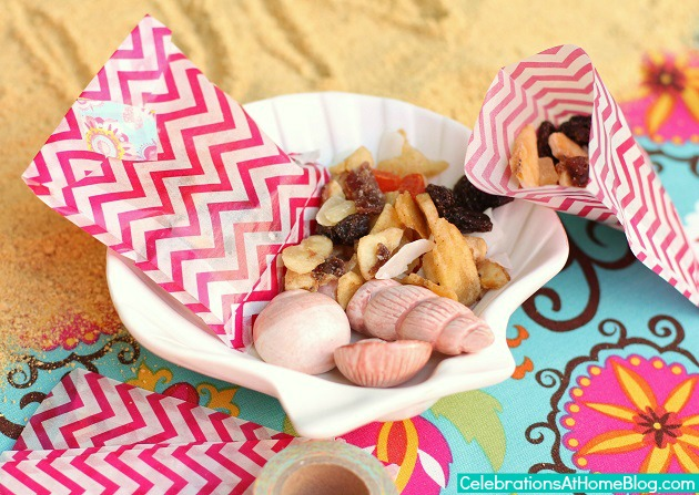 tropical trail mix favors