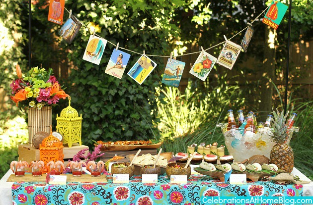 Entertaining : Tropical Themed Party Ideas + FREE ...