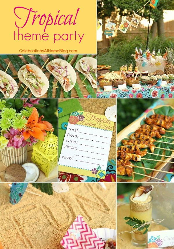 Tropical Theme party ideas