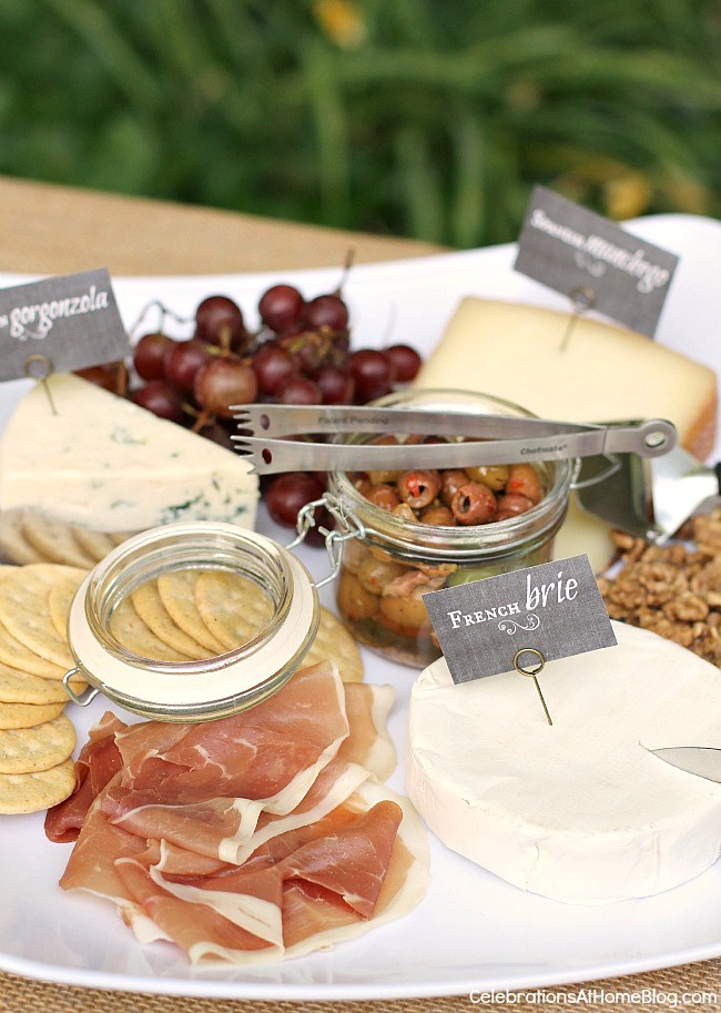 Host a wine time ladies night and serve a fabulous cheese plate.