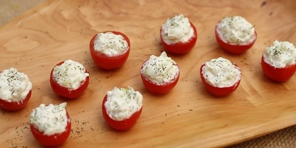 Stuffed Cherry Tomatoes - Celebrations at Home