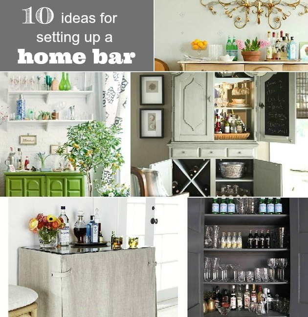 10 Ideas For Setting Up A Home Bar Celebrations At Home