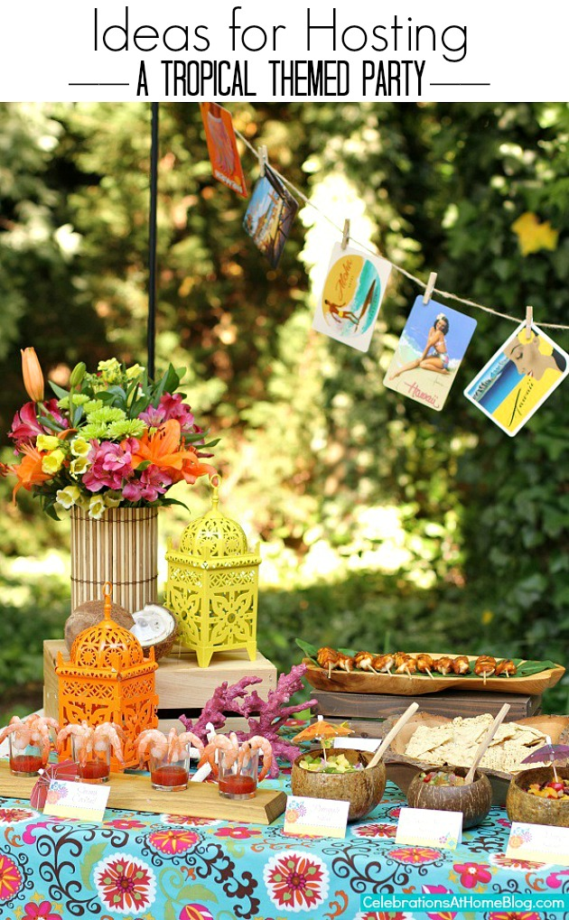 Entertaining tropical themed party ideas free for B day decoration at home