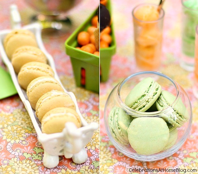 macarons for a casual girls night in
