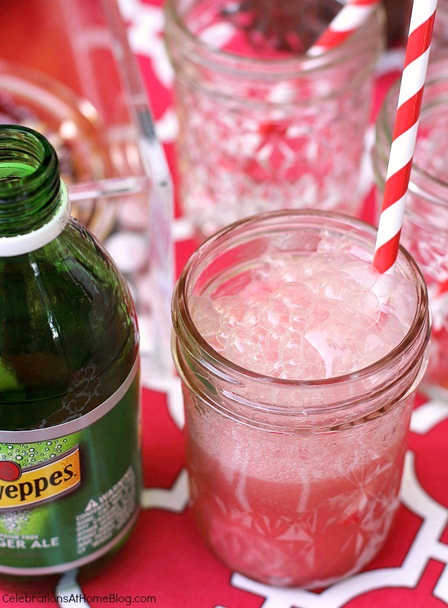 Serve this sherbet fizz for dessert at a summer cookout.