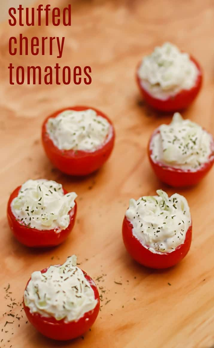 cherry tomatoes stuffed with benedictine recipe