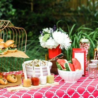 summer cookout buffet
