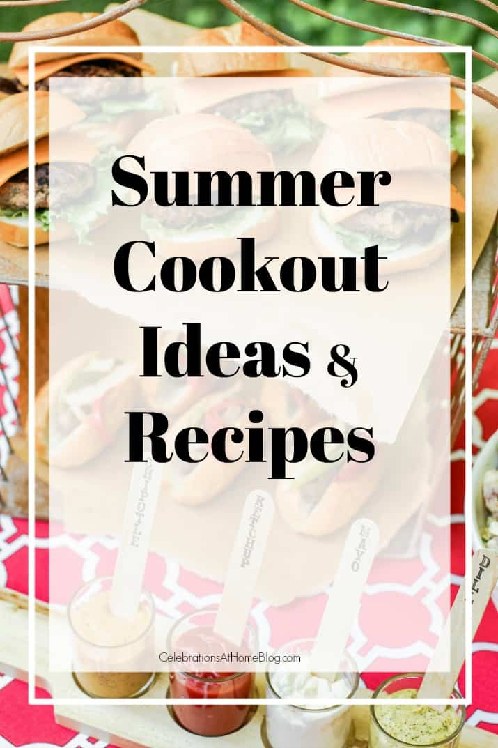 Summer cookout with recipes