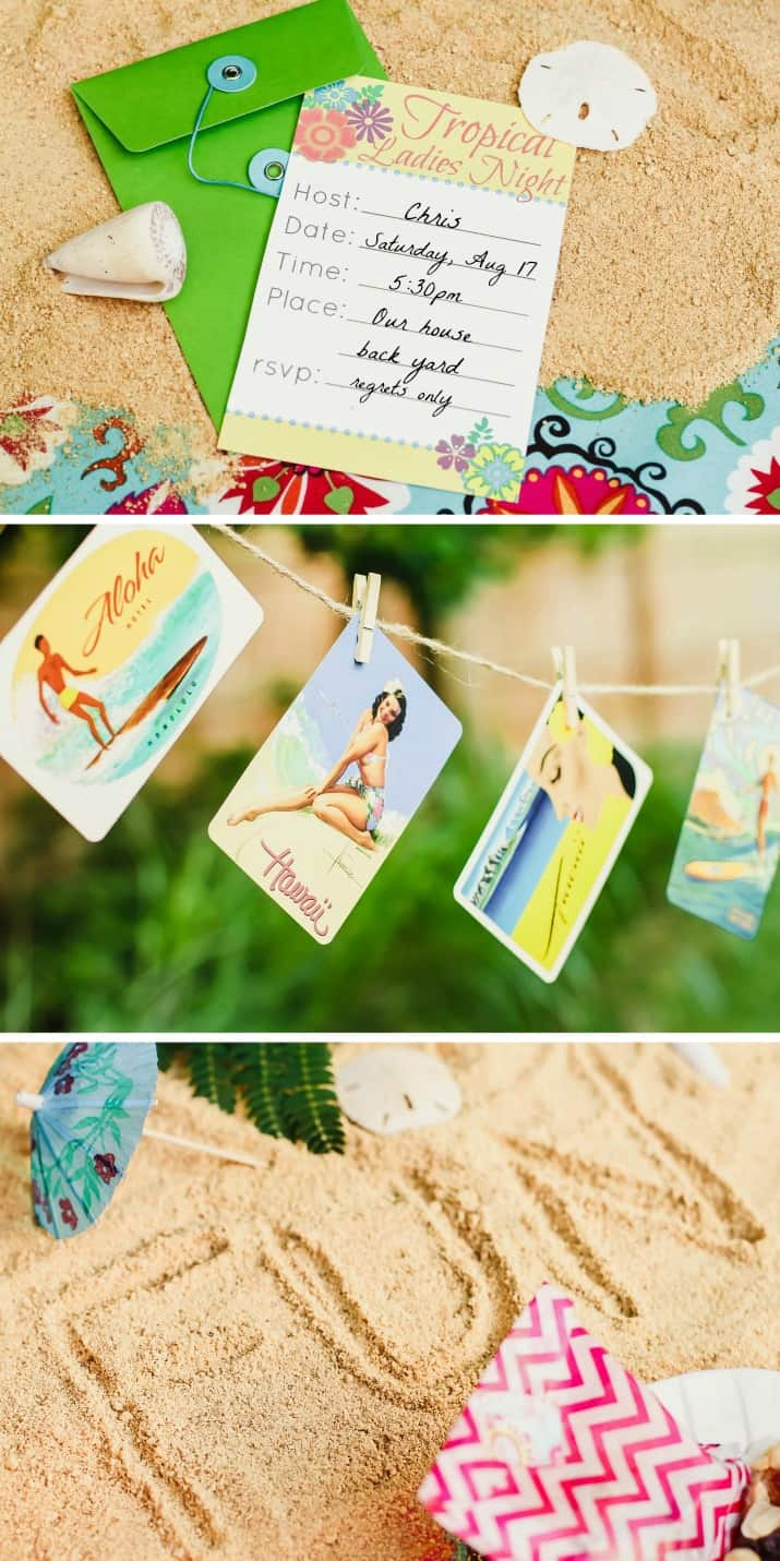 tips and ideas for a tropical party theme