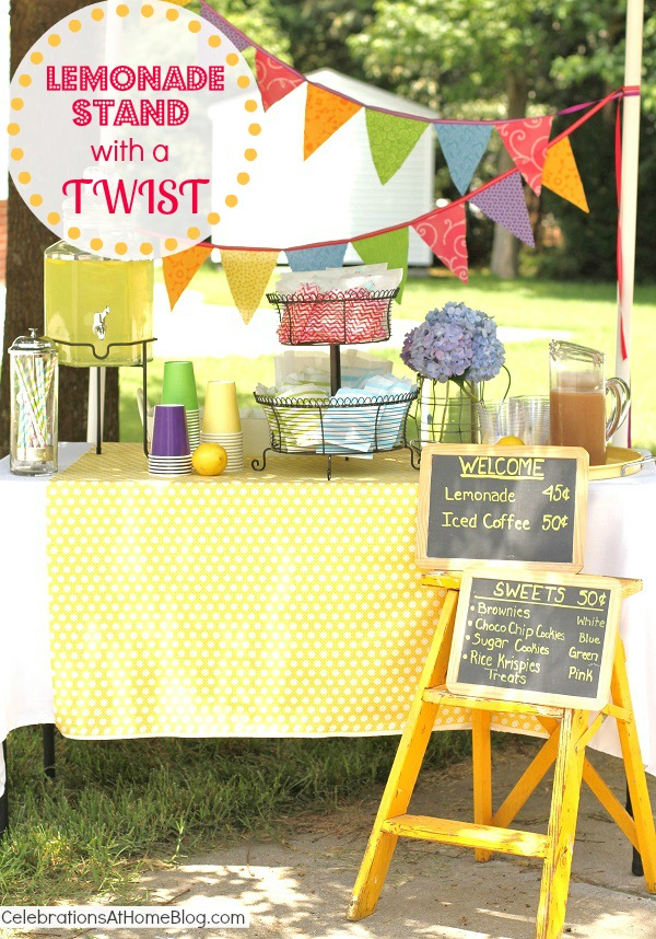 Lemonade & iced coffee stand by @Chris Nease {Celebrations At Home}
