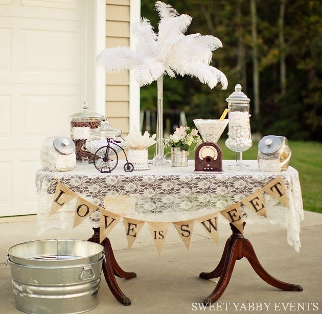 Vintage Style Candy Table {Guest Feature} - Celebrations at Home