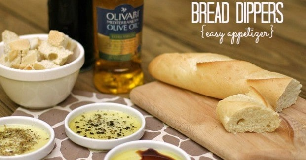 easy appetizer: olive oil bread dippers