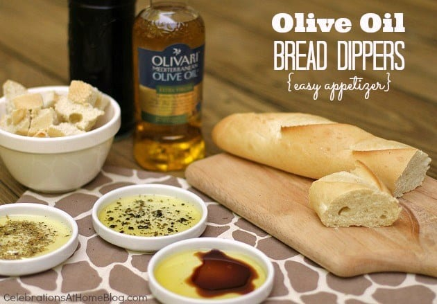 Easy Appetizer – French Bread With Olive Oil Dippers