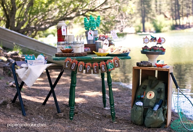 camping party feature by Paper and Cake, on Celebrations At Home