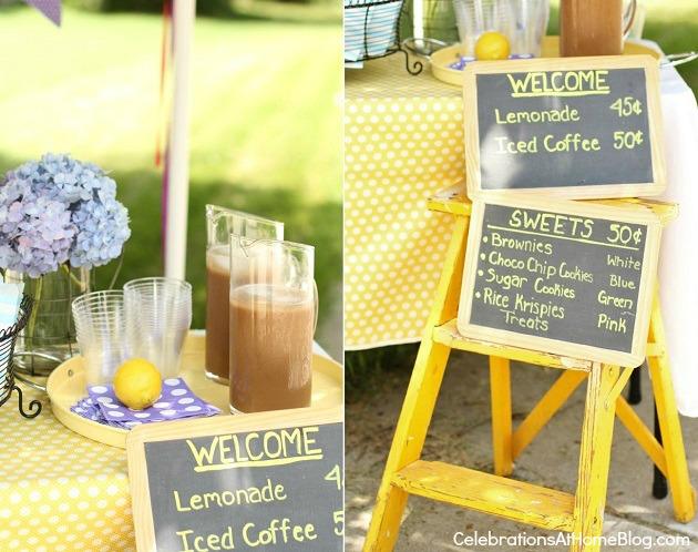 Lemonade & iced coffee stand