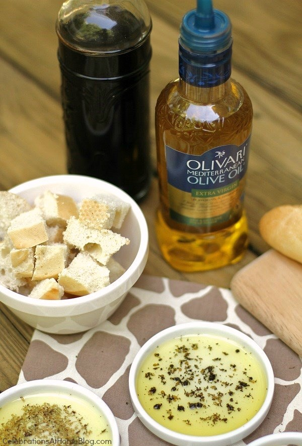 easy appetizer - olive oil bread dippers