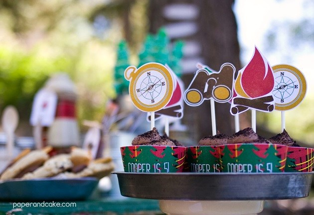 camping party by Paper and Cake