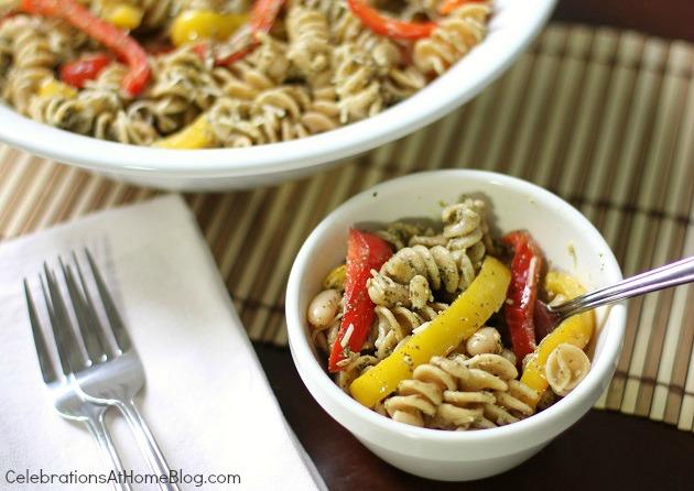 veggie pesto pasta salad