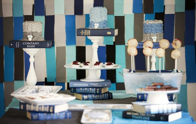 Library themed baby shower