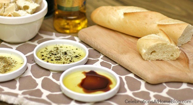 bread & olive oil dippers