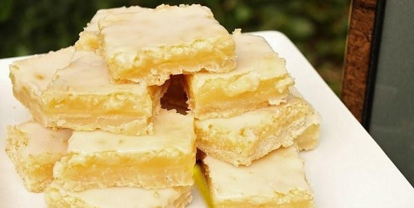 Glazed Lemon Bars Recipe