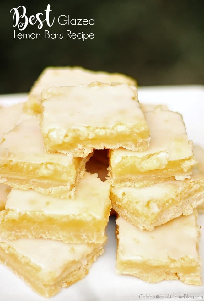 This glazed Lemon Bars Recipe is one of my favorite go-to desserts for summer entertaining. Don't miss this delicious sweet treat recipe here.