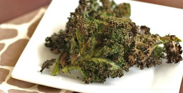 Making Crispy Kale Chips