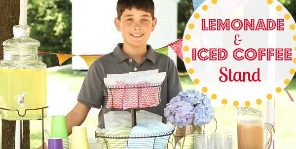 Set Up A Lemonade & Iced Coffee Stand