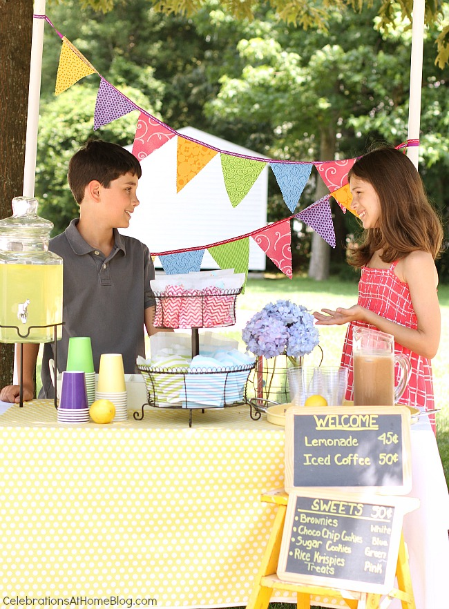 Great ideas to set up a lemonade stand!