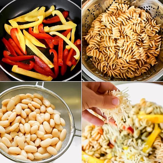recipe steps for pasta salad