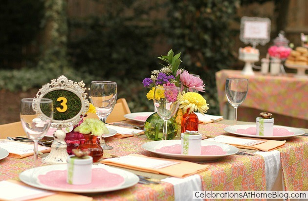 Pastel party design for bridal showers or wedding