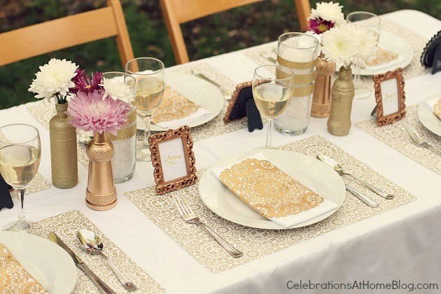 Gold Party Decor - Ideas For Milestone Celebrations - Celebrations ...