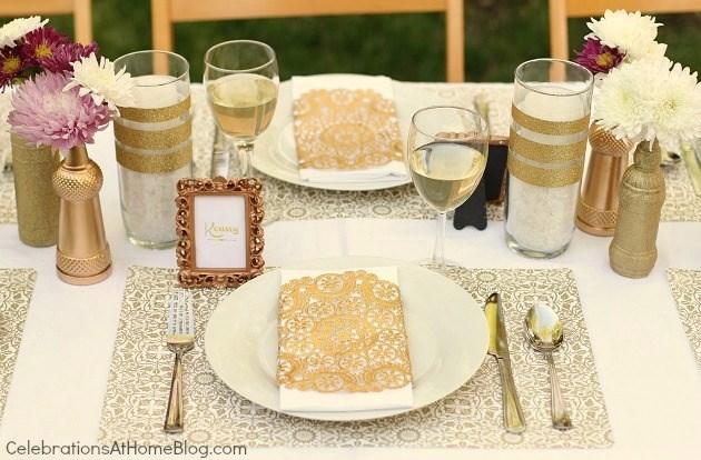 Gold Party Decor - Ideas For Milestone Celebrations - Celebrations ...