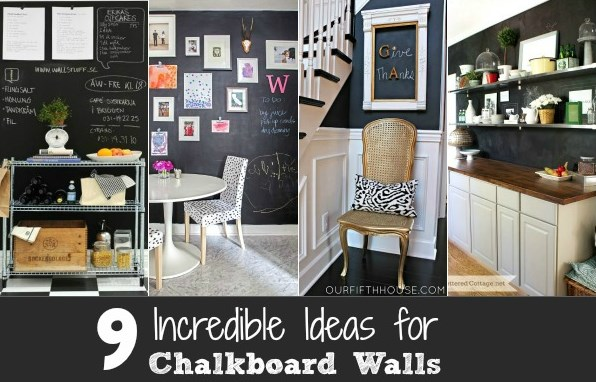 9 Ideas For Chalkboard Painted Walls Celebrations At Home