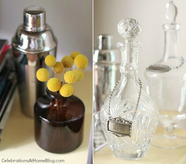 bar cart accessories